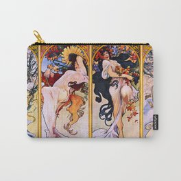 "Alphonse Mucha ""The Seasons (series)"" (1897) Carry-All Pouch"
