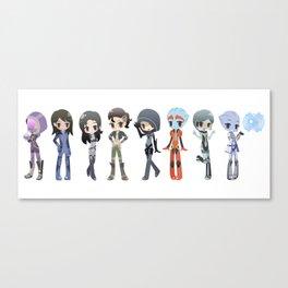 Mass Effect - The Girls Canvas Print