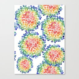 Color My Swirled Canvas Print