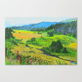 Alaska's Kenai Peninsula - Watercolor Canvas Print