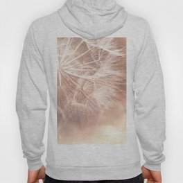 Pink Macro (2) Dandelion Flower - Floral Nature Photography Art and Accessories Hoody
