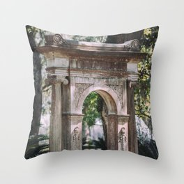 Arch at Bonaventure Cemetery Throw Pillow