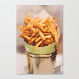 Fries in French Quarter, New Orleans Canvas Print