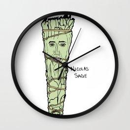 Nicolas Cage Nicolas Sage smudge Wall Clock