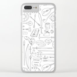 Fantasy Adventuring Equipment Clear iPhone Case