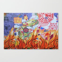 Burnin' Paper Full Canvas Canvas Print
