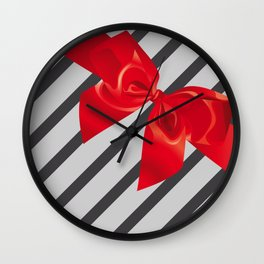 Gift wrapping Wall Clock