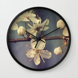Cherry blossom tree in the blue Wall Clock