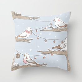 Birdies Throw Pillow