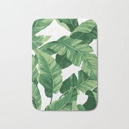 Tropical banana leaves IV Bath Mat