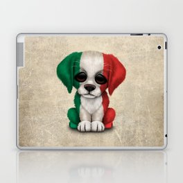 Cute Puppy Dog with flag of Italy Laptop & iPad Skin