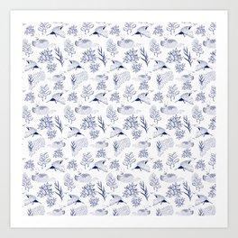 loon pattern Art Print