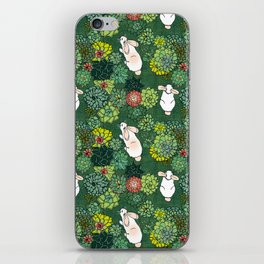 Rabbits in a Succulent Garden iPhone Skin