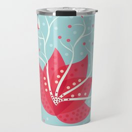 Exotic Winter Flower Travel Mug