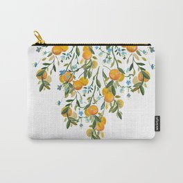 A Bit of Spring and Sushine Trailing Oranges Carry-All Pouch