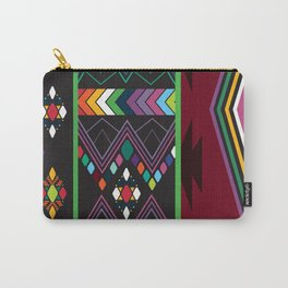 Aztec Central America Inspired Modern Geometric Design Carry-All Pouch
