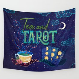 Kelly-Ann Maddox Collection :: Tea and Tarot (Illustrated) Wall Tapestry