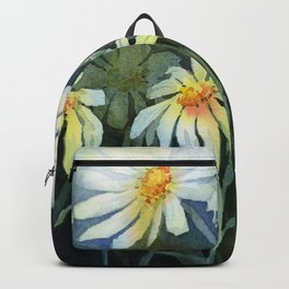 Daisies Watercolor Abstract Flowers Backpack