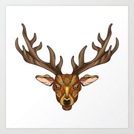Deer Park- MI_Brown Art Print