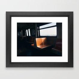 On my way / New York City subway Framed Art Print