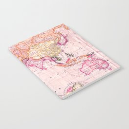 Vintage Map Pattern Notebook