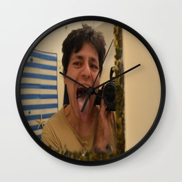 self-portait Wall Clock