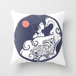 Femme Fatal Throw Pillow