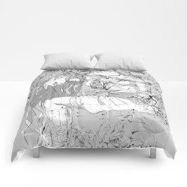 Lady in Peonies Comforters