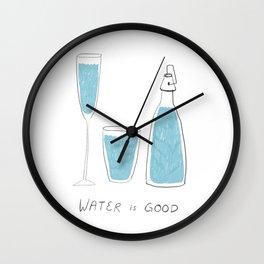 Water is Good Wall Clock
