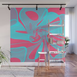 Blue Squabble Wall Mural