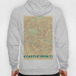 Newcastle upon Tyne Map Retro Hoody