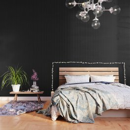 Classic White Baseball Stripe Lines On Black Wallpaper