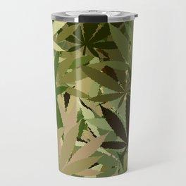 Marijuana Cannabis Weed Pot Camouflaged Theme Travel Mug