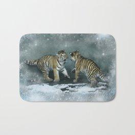 Playful Tiger Cubs Bath Mat