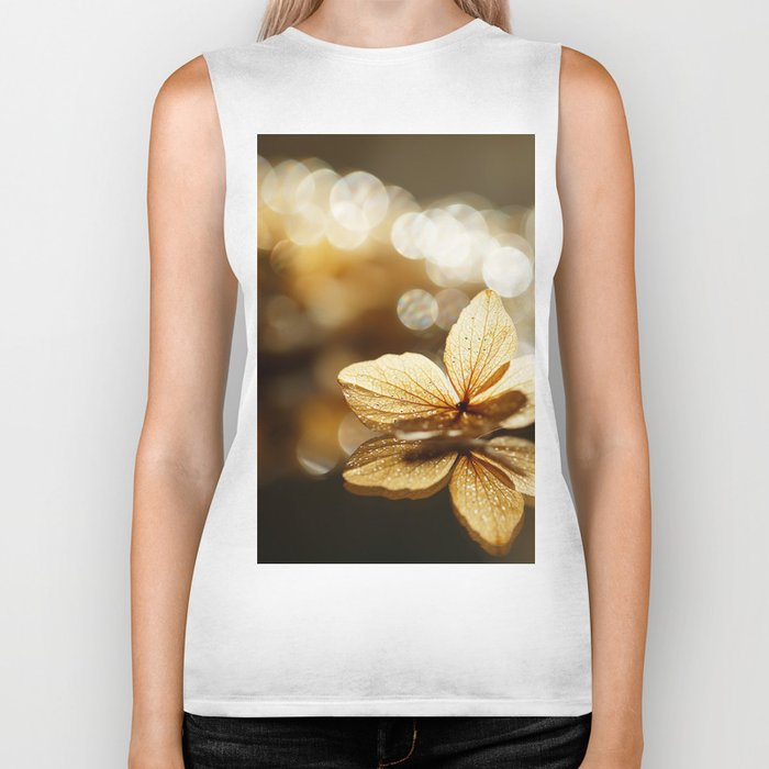 Beautiful Glow Flower Reflection with Bokeh #decor #society6 #buyart Biker Tank