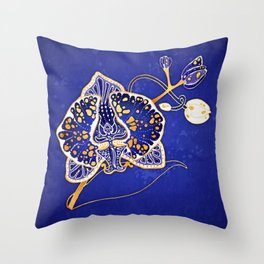 Egyptian Blue :: Orchid Throw Pillow