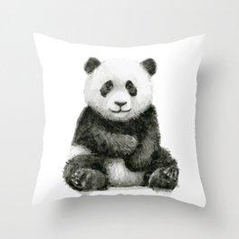 Panda Baby Watercolor Animal Art Throw Pillow