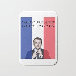Macron Make Our Planet Great Again Bath Mat