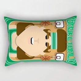 Basketball Green - Alleyoop Buzzerbeater - June version Rectangular Pillow