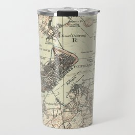 Vintage Map of Portland Maine (1914) Travel Mug