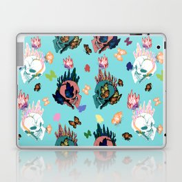 Skulls and Butterflies Colored Pattern Laptop & iPad Skin