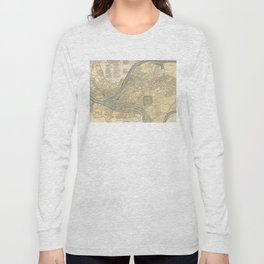 Vintage Map of Pittsburgh PA (1891) Long Sleeve T-shirt