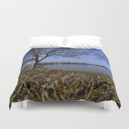 Looking at a lake in Laupheim Duvet Cover