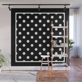 Black Polka Dots Palm Beach Preppy Wall Mural