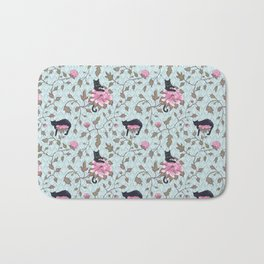 Cats and Flowers (Paeonies) Bath Mat