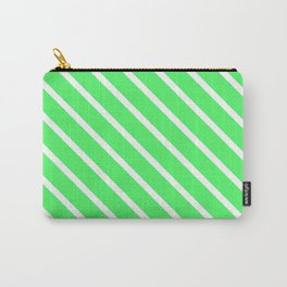 Mint Julep #1 Diagonal Stripes Carry-All Pouch