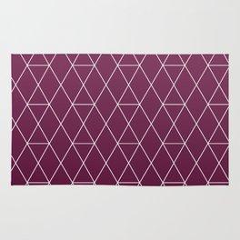 Plum Geometric Pattern Rug