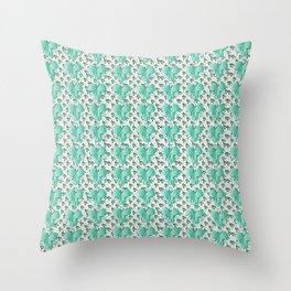 Clover Pattern Green Throw Pillow