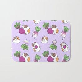 Guinea Pig and Radish Pattern Bath Mat