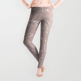 Abstract coral textures on soft paper Leggings